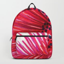 Pink-Red Sun Flower Backpack