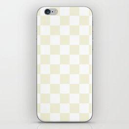 Checkered - White and Beige iPhone Skin