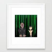 matrix Framed Art Prints featuring Matrix by flydesign