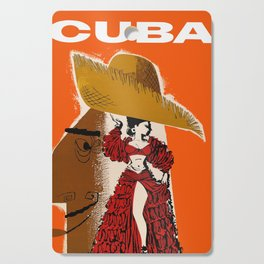 Vintage Travel Ad Cuba Cutting Board