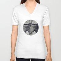 brooklyn bridge V-neck T-shirts featuring Brooklyn Bridge by abominable