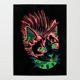 Punk Kitty Poster