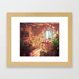 Flower shop-Inside Framed Art Print