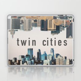 Twin Cities Minneapolis and Saint Paul Minnesota Skylines Laptop & iPad Skin