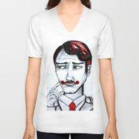 gentleman V-neck T-shirts featuring gentleman by sladja