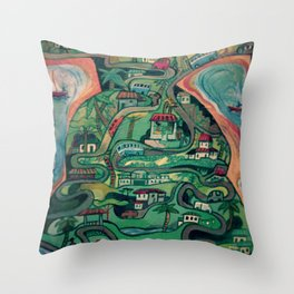 One Busy Day In Mahe, Seychelles Throw Pillow