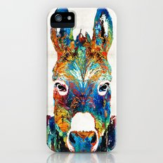 Colorful Donkey Art - Mr. Personality - By Sharon Cummings iPhone SE Slim Case