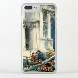 "John Singer Sargent ""Santa Maria della Salute"" Clear iPhone Case"