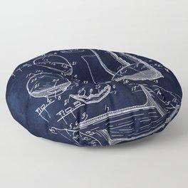 Ice Cream Scoop Blueprint Floor Pillow