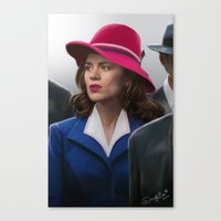 agent carter Canvas Prints featuring Agent Carter by DandyBee