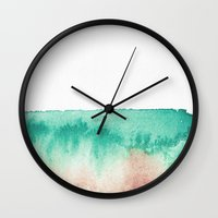 mineral Wall Clocks featuring mineral 02 by LEEMO