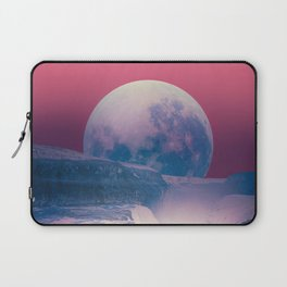 red sky with moon, Iceland Laptop Sleeve