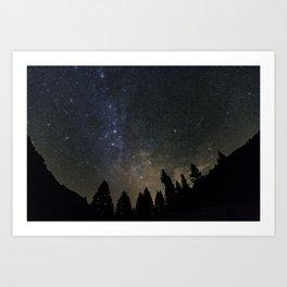 Orionids over Big Sky Art Print