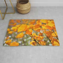 California Gold Poppies by Reay of Light Photography Rug