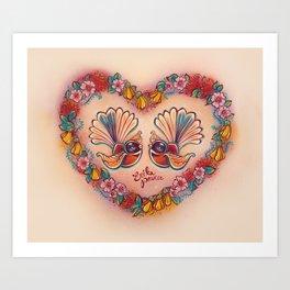Sweetheart Fantails Art Print