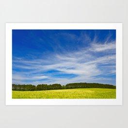 Wye Island Sky Field - Eco Harmony Art Print
