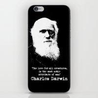 darwin iPhone & iPod Skins featuring Darwin by PsychoBudgie