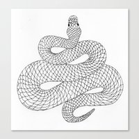 snake Canvas Prints featuring Snake by Syrupea