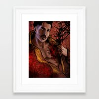 "dragon age inquisition Framed Art Prints featuring Dragon Age Inquisition - Dorian Pavus - Thorn by Barbara ""Yuhime"" Wyrowińska"