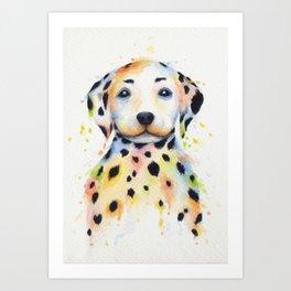 Colorful Dalmatians Art Print