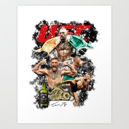 Conor McGregor - UFC Champ - Proper Twelve - Mystic Mc - The Notorious - MMA Art Art Print