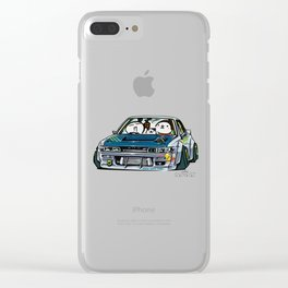 Crazy Car Art 0154 Clear iPhone Case
