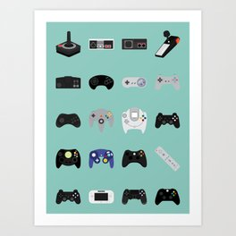 Console Evolution Art Print