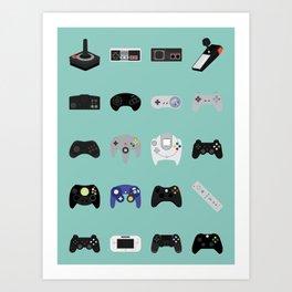 Console Evolution Art Print