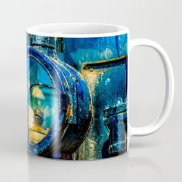 The Headlight Of An Ancient Steam Locomotive Engine Coffee Mug