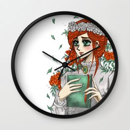Red head rowan manga girl Wall Clock