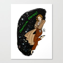 Dana Scully Pin-up Canvas Print