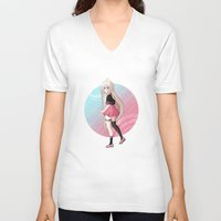 vocaloid V-neck T-shirts featuring IA - VOCALOID Gakuen by Tenki Incorporated