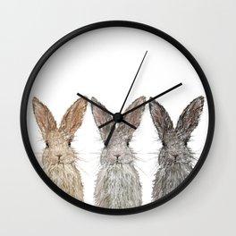 Triple Bunnies Wall Clock