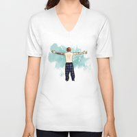 cyrilliart V-neck T-shirts featuring Tenerife Sea by Cyrilliart