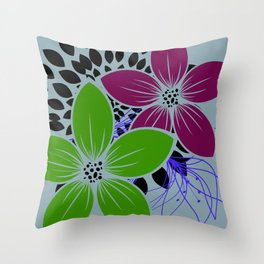 Flowers for One Throw Pillow