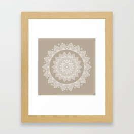 Baja Dunes Mandala Lace Bohemian Décor Framed Art Print