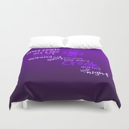 Croak-Purple Duvet Cover