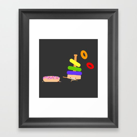Put a ring on it Framed Art Print