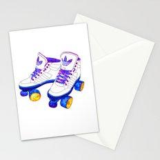 Roller Derby skaters Stationery Cards
