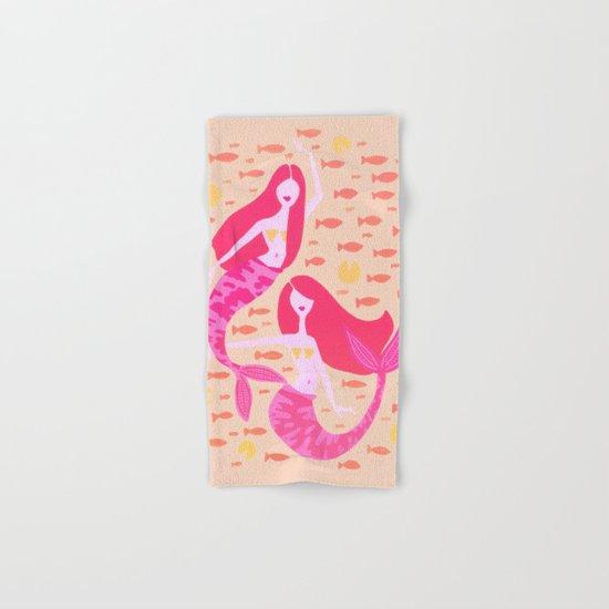 Koi Mermaids – Peach Palette Hand & Bath Towel
