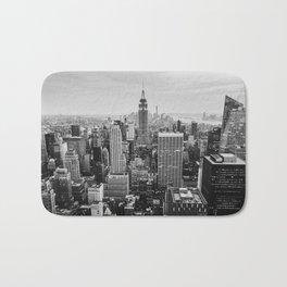 Black & White NYC Skyline Bath Mat
