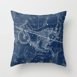 Capricorn sky star map Throw Pillow