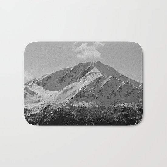 Snowy Alaskan Mountain Bath Mat