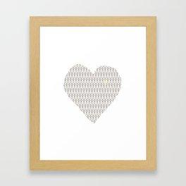 Penis at heart Framed Art Print