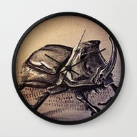 beetle Wall Clocks featuring Beetle by Werk of Art
