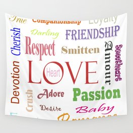 Love Synonyms Wall Tapestry