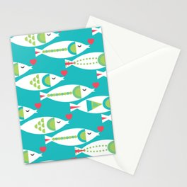 Kissy Fishy Stationery Cards