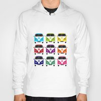 vw Hoodies featuring VW Campervan by chauloom