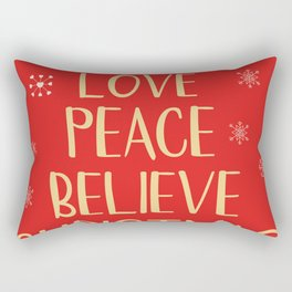 Conceptual christmas tree from words Rectangular Pillow