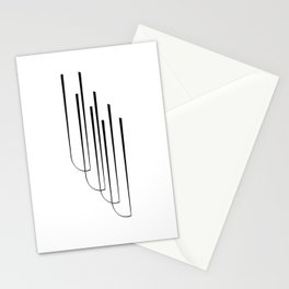 """"""" Eclipse Collection"""" - Minimal Letter U Print Stationery Cards"""